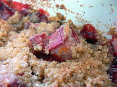 Rhubarb Crisp - Nice with strawberries too
