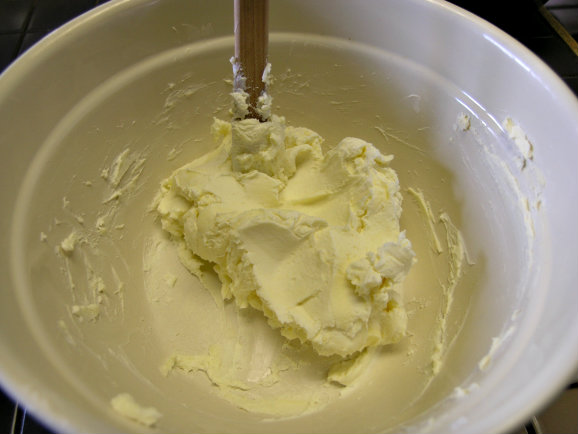 butter and cream cheese mixed