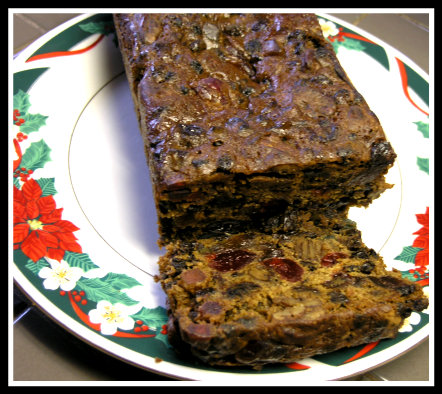 Mom's Dark Christmas Cake