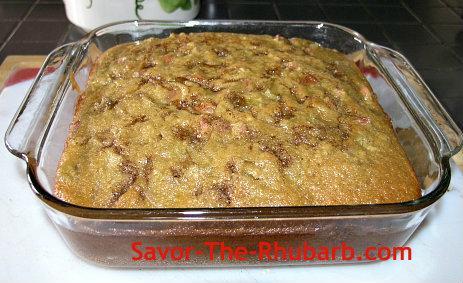 Baked rhubarb Amish Coffee Cake