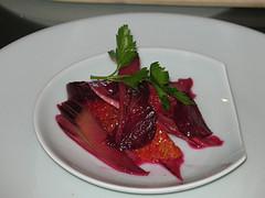 rhubarb beet salad
