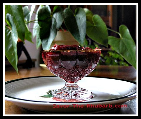 rhubarb cranberry sauce
