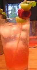 rhubarbtini drink