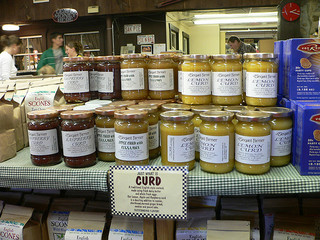 Jars of fruit curd