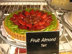 fruity almond tart