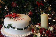 marzipan xmas cake